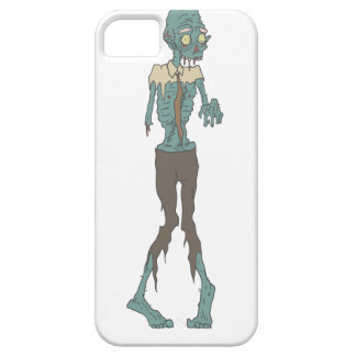 Creepy Zombie Wearing Tie With Rotting Flesh Outli iPhone 5 Case
