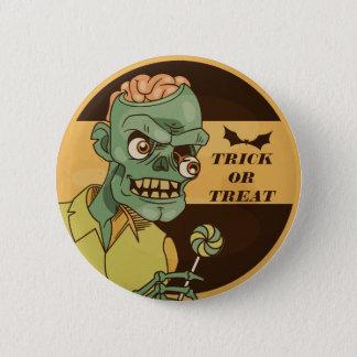 Creepy Zombie with Lollipop Vintage   Pin Button