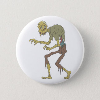 Creepy Zombie With Melting Skin With Rotting Flesh 2 Inch Round Button