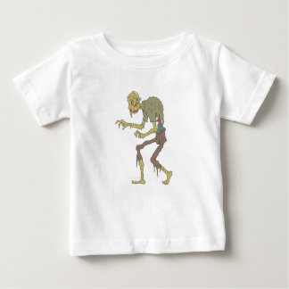 Creepy Zombie With Melting Skin With Rotting Flesh Baby T-Shirt