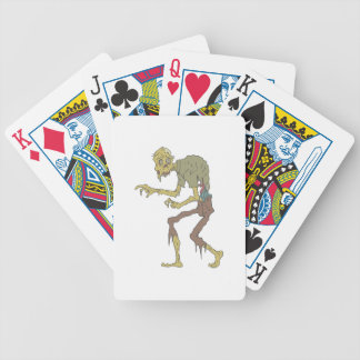 Creepy Zombie With Melting Skin With Rotting Flesh Bicycle Playing Cards
