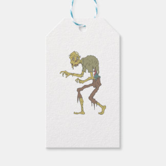 Creepy Zombie With Melting Skin With Rotting Flesh Gift Tags