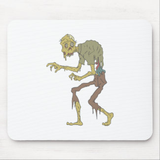 Creepy Zombie With Melting Skin With Rotting Flesh Mouse Pad