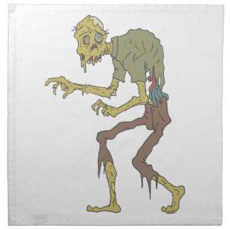 Creepy Zombie With Melting Skin With Rotting Flesh Napkin