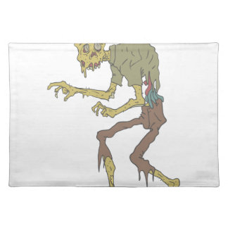 Creepy Zombie With Melting Skin With Rotting Flesh Placemat