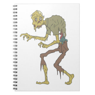Creepy Zombie With Melting Skin With Rotting Flesh Spiral Notebook