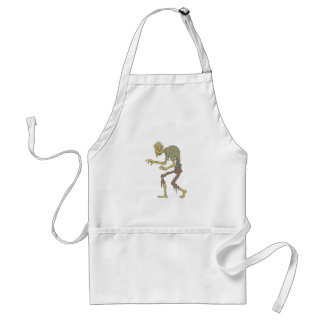 Creepy Zombie With Melting Skin With Rotting Flesh Standard Apron