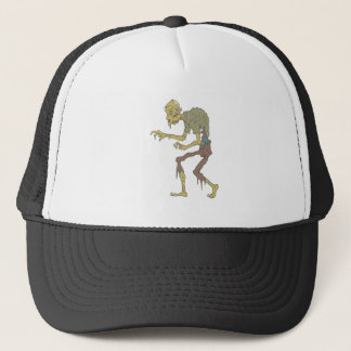 Creepy Zombie With Melting Skin With Rotting Flesh Trucker Hat