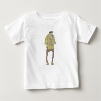 Creepy Zombie With Stitched Eyes With Rotting Baby T-Shirt
