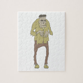 Creepy Zombie With Stitched Eyes With Rotting Jigsaw Puzzle