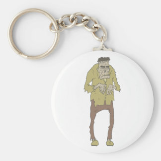 Creepy Zombie With Stitched Eyes With Rotting Keychain