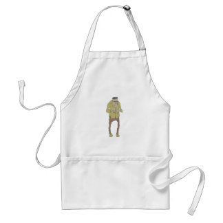 Creepy Zombie With Stitched Eyes With Rotting Standard Apron
