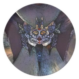 creepygirlbat dinner plate