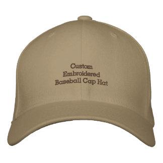Créez le chapeau de casquette de baseball brodé