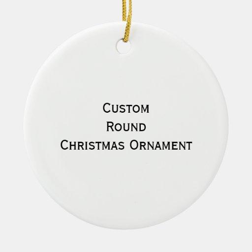 Créez l'ornement rond fait sur commande de Noël