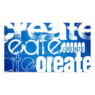 Créez ; Rayures bleues royales Carte De Visite Standard