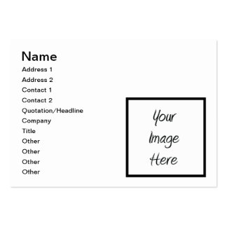 Créez vos propres - blanc de personnaliser carte de visite grand format