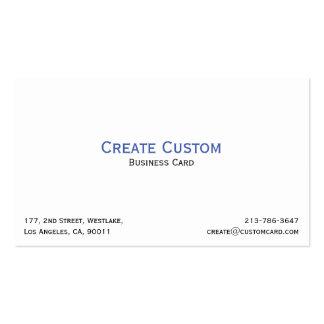 Créez vos propres cartes de visite personnalisés carte de visite standard