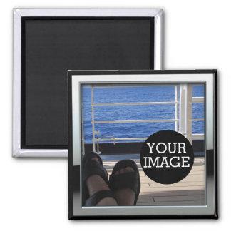 Créez vos propres ici dans le cadre de style de ch magnet carré