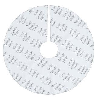 Créez vos propres jupe carrelée d'arbre d'image jupon de sapin en polyester brossé