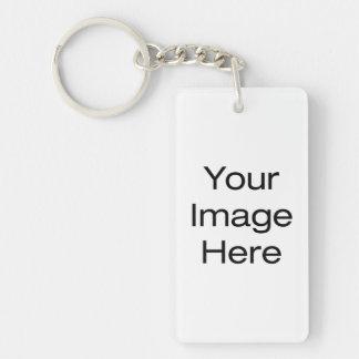 Créez vos propres porte-clé rectangulaire en acrylique double face