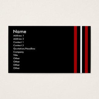 Créez votre propre blanc noir rouge de carte de
