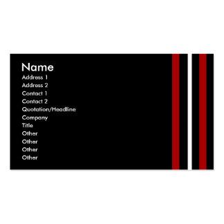 Créez votre propre blanc noir rouge de carte de carte de visite standard