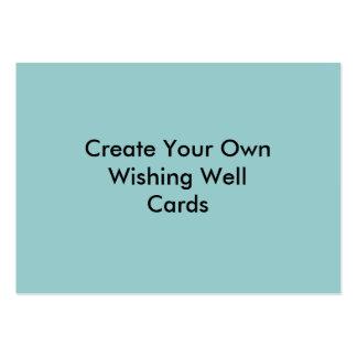 Créez votre propre bleu souhaitant les cartes bonn modèle de carte de visite