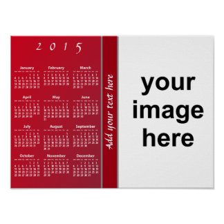 Créez votre propre calendrier mural 2015 fait sur affiches