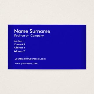 Créez votre propre carte de visite bleu