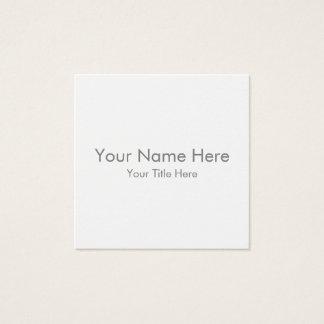 Créez votre propre carte de visite carré