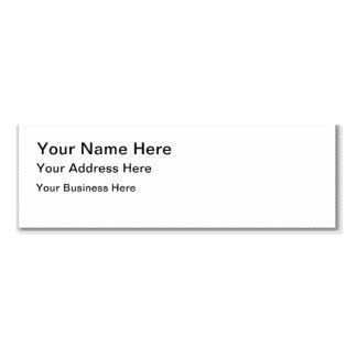 Créez votre propre carte de visite maigre