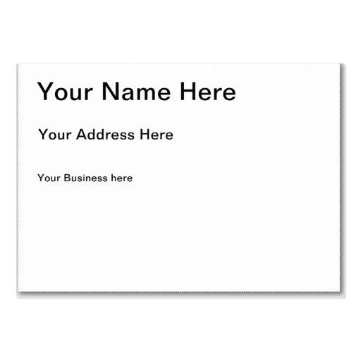 Créez votre propre carte de visite potelé