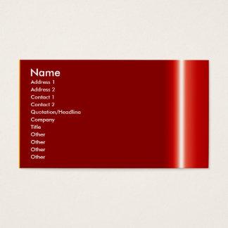 Créez votre propre carte de visite rouge élégant