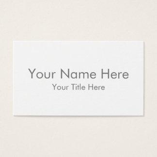 Créez votre propre carte de visite standard