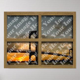 Créez votre propre châssis de fenêtre en bois de B Poster
