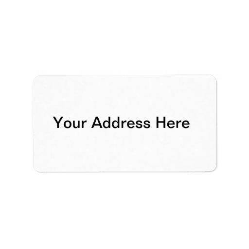 Créez votre propre étiquette de adresse étiquette d'adresse