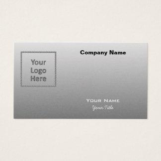 Créez votre propre gris argenté de logo fait sur cartes de visite