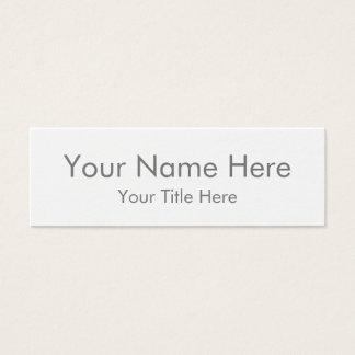 Créez votre propre mini carte de visite