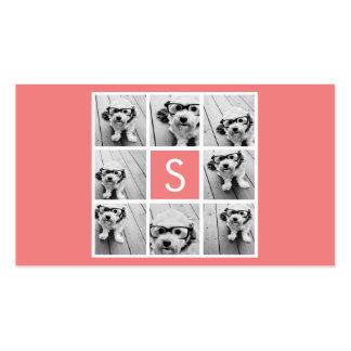 Créez votre propre monogramme de coutume de collag carte de visite standard