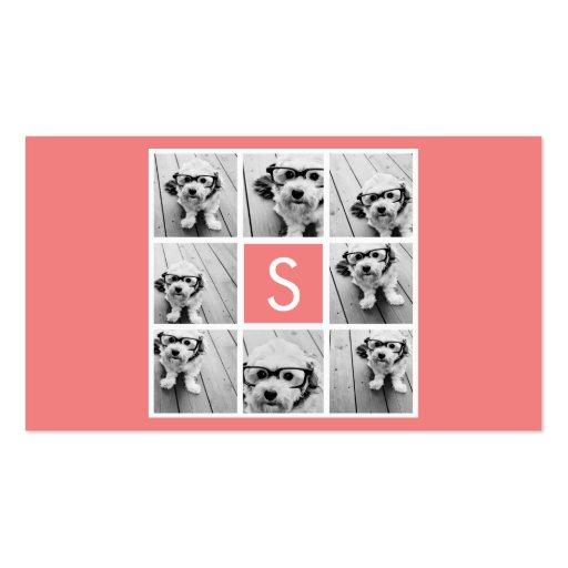 Créez votre propre monogramme de coutume de collag carte de visite