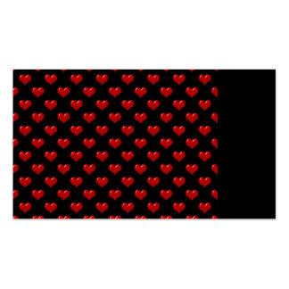Créez votre propre motif rouge mignon de coeurs su cartes de visite professionnelles