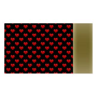 Créez votre propre motif rouge mignon de coeurs su carte de visite
