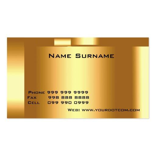 Créez votre propre or de carte de visite