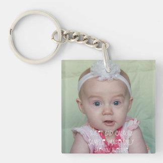 Créez votre propre photographie ou porte - clé porte-clé carré en acrylique double face