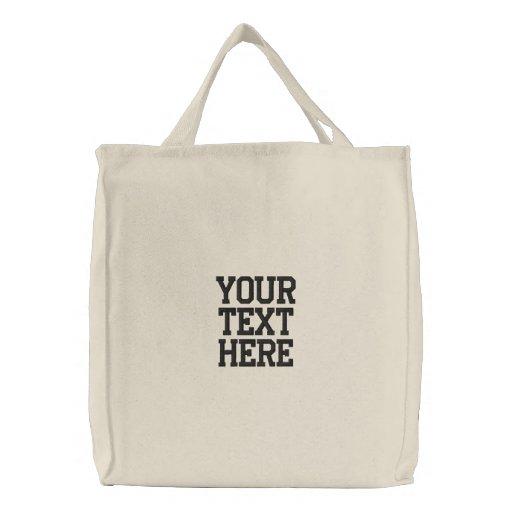 Créez votre propre sac brodé