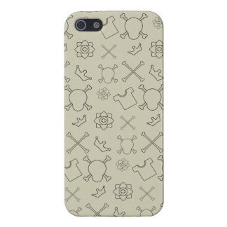Creme brulee Skull and Bones pattern Cover For iPhone 5/5S