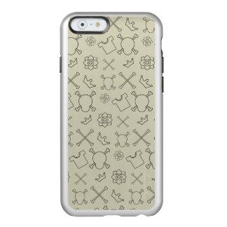 Creme brulee Skull and Bones pattern Incipio Feather® Shine iPhone 6 Case