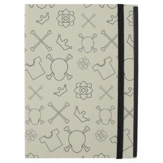 "Creme brulee Skull and Bones pattern iPad Pro 12.9"" Case"