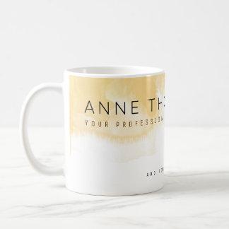 crème d'aquarelle et professionnel blanc mug